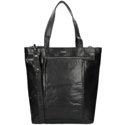 Leren tas Casual Shopper Bronco zwart Spikes Sparrow