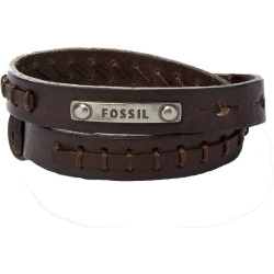 Fossil JF87354040 Armband Silver Tone Brown