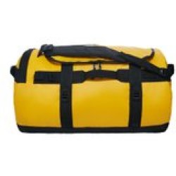 The North Face Base Camp Duffel Reistas M 69 L Summit Gold TNF Black vernieuwd model