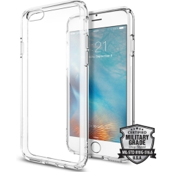Spigen Ultra Hybrid voor Apple iPhone 6 6s Back Cover Transparant