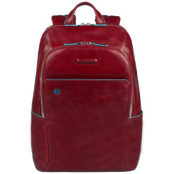 Piquadro Blue Square Laptop Backpack red