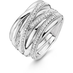 TI SENTO Milano Ring 12067ZI Maat 56 (17 75 mm) Gerhodineerd Sterling Zilver