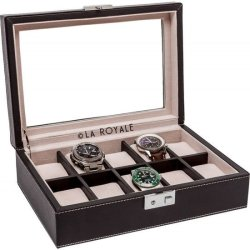 LA ROYALE Horlogebox Duro Zwart 10 Horloges