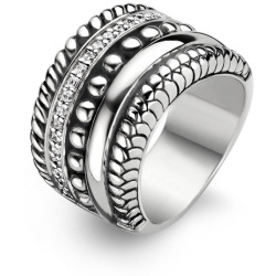 TI SENTO Milano Ring 1835ZI Maat 54 (17 25 mm) Gerhodineerd Sterling Zilver