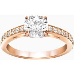 Attract Round Ring White Rose Gold Plating