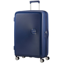 American Tourister Soundbox Spinner 77 Expandable Midnight Navy