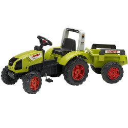 Falk 'Claas Arion 430' groene traptracor incl. aanhanger