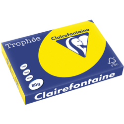 Clairefontaine Trophée Intens A3 80 g 500 vel fluo geel