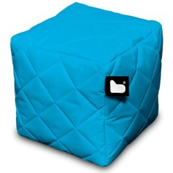 Extreme lounging B Box Quilted Poef Aqua
