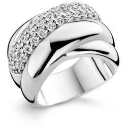 TI SENTO Milano Ring 1642ZI Maat 58 (18 5 mm) Gerhodineerd Sterling Zilver