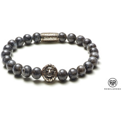 RebelRose armband Grey Seduction silver colored