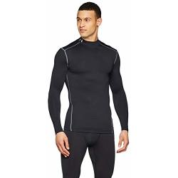 Under Armour CG Armour Mock Heren Sportshirt Zwart Maat S