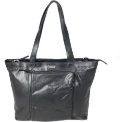 Leren damestas shopper Bronco zwart Spikes Sparrow