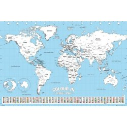GBeye World Map Colour in Poster 91 5x61cm