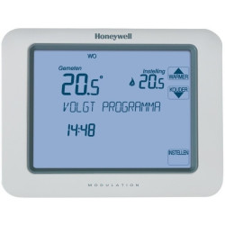 Honeywell Chronotherm klokthermostaat touch modulation met touchescreenbediening 7 31°C powerstealing zonder batterij wit TH8210M1003