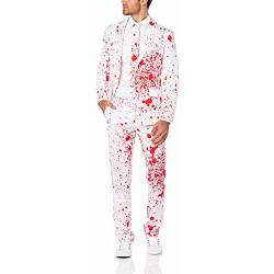 OppoSuits Bloody Harry Mannen Kostuum Wit Halloween Maat 54
