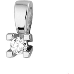 The Jewelry Collection Hanger Diamant 0.10ct H Si Witgoud