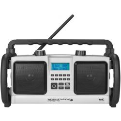 Perfectpro Bouwradio workstation 2 fm dab blue aux in WS2BT