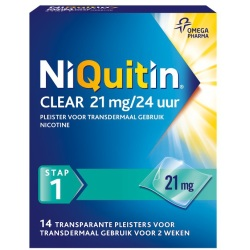 Niquitin Clear Pleisters 21mg Stap 1