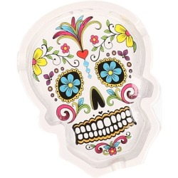 Day of the dead asbak wit 10 cm
