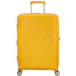 American Tourister Soundbox Spinner 67 Expandable Golden Yellow