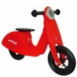 Simply Houten Loopfiets scooter Rood