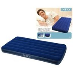 Intex Downy Twin Luchtbed 1 persoons 191x99x22 cm