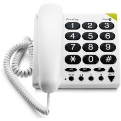 Doro PhoneEasy 311C Single DECT telefoon Wit