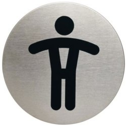 Infobord pictogram durable 4905 wc heren rond 83mm