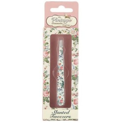 The Vintage Cosmetic Company Slanted Tweezer Floral