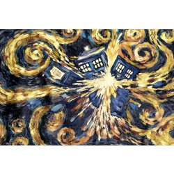 GBeye Doctor Who Exploding Tardis Poster 91 5x61cm