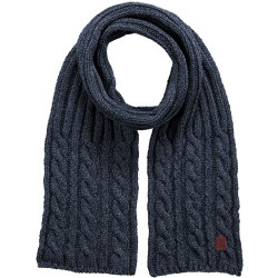 Barts Twister Scarf Heren Shawl Navy